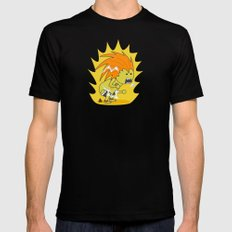 Electric Thunder! MEDIUM Mens Fitted Tee Black