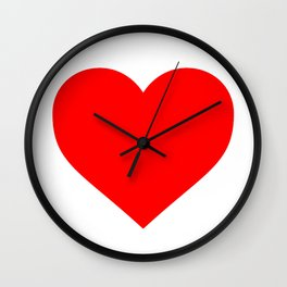 Heart (Red & White) Wall Clock