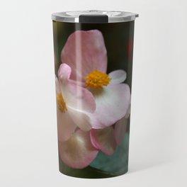 Wax Begonia Flowers Travel Mug
