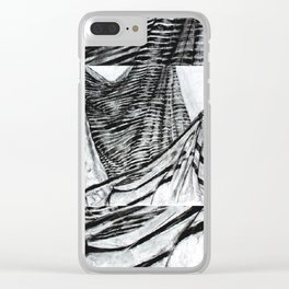 Double Drapery Drawing Clear iPhone Case