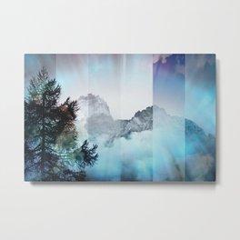 Boreal Lights on the Mountains Metal Print