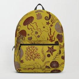 Rust on Mustard Sea Life Backpack
