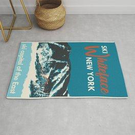 Ski Whiteface New York vintage poster Rug