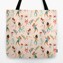 Central Park Zumba #illustration #pattern #womensday Tote Bag