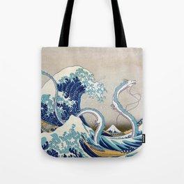 Haku and the Great Wave Tote Bag