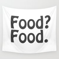 food Wall Tapestries featuring Food? Food. by Poppo Inc.