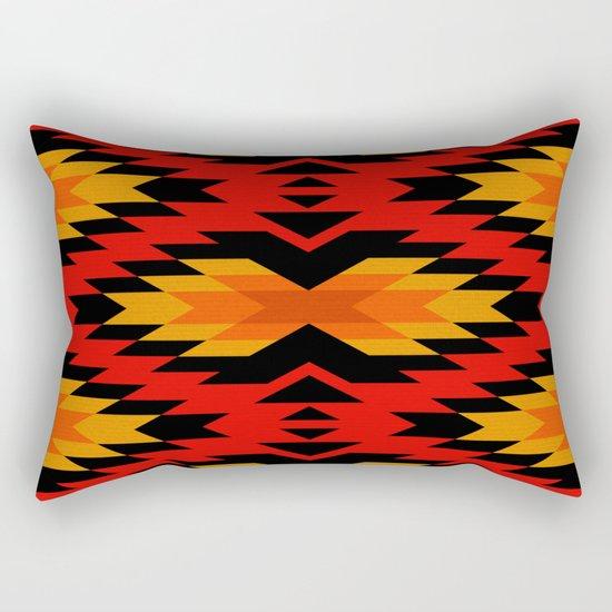 Tribal pattern - red Rectangular Pillow