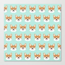 Corgi glasses cute funny dog gifts for welsh corgi dog breed owners must haves by pet friendly Canvas Print