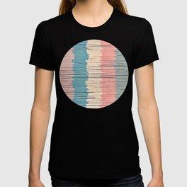Colorful Grunge Stripes T-shirt