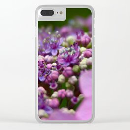 Small Purple Flowers Clear iPhone Case