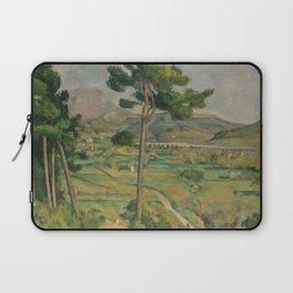 Mont Sainte-Victoire and the Viaduct of the Arc River Valley Laptop Sleeve