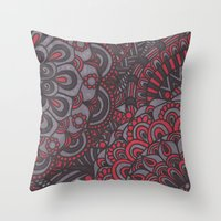 classy Throw Pillows featuring Classy  by Doodle Art Designs by Dwyanna Stoltzfus