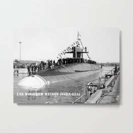 USS WOODROW WILSON (SSBN-624) Metal Print