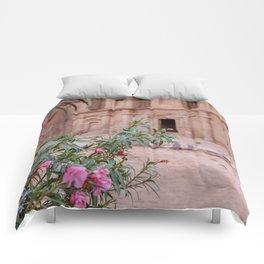 The Monastery Petra Jordan with Flowers Comforters