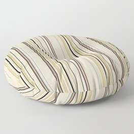 Combined Stripe Pattern - Neutral Colorway Floor Pillow