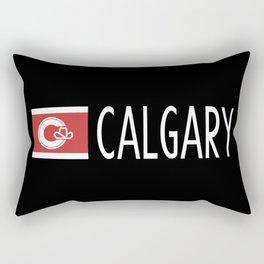 Calgary: Calgarian Flag & Calgary Rectangular Pillow