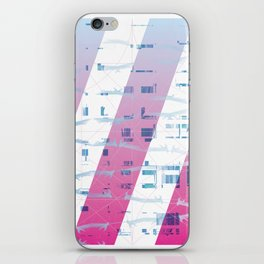 Abstract wings of freedom iPhone Skin