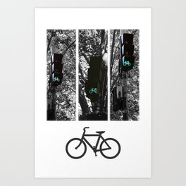 cycle to the city Art Print