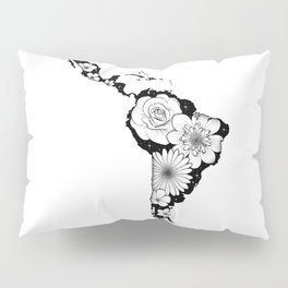 America Latina with flowers and stars Pillow Sham