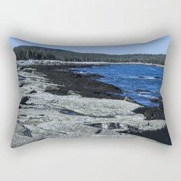 Barnacle Rocks at Acadia Rectangular Pillow