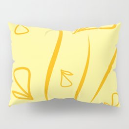 Geometric pattern made from plant yellow elements on a pepper background. Pillow Sham