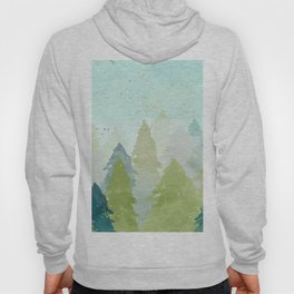 Teal Abstract Gold Glitter Forest Hoody
