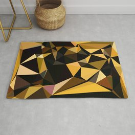 Completely Random Low Poly Abstract Art Rug
