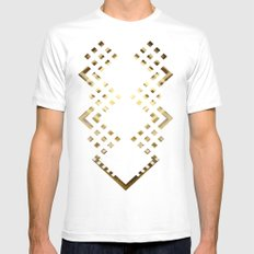 CUBIC DELAY MEDIUM White Mens Fitted Tee
