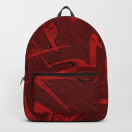 Red abstract marble textures Backpack