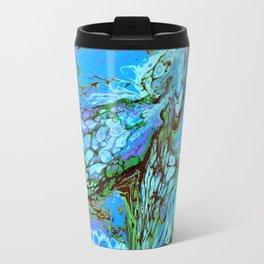 Blue Fantasy Metal Travel Mug