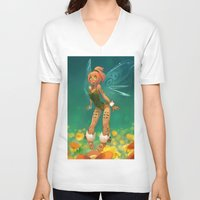 elf V-neck T-shirts featuring Elf by xaxaxa