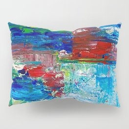 Abstract Waterfall Pillow Sham