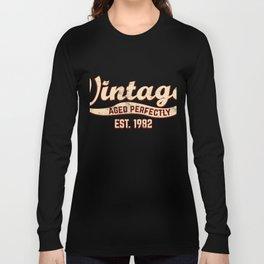1982 Birthday Gift Vintage Est 36th Birthday 36 Yrs Old B-day Present Long Sleeve T-shirt