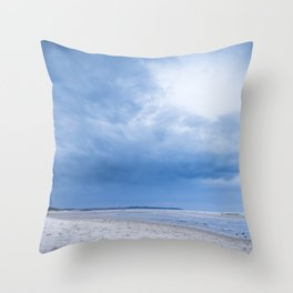 The Sky above the Channel Throw Pillow
