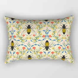 Bee Garden - Cream Rectangular Pillow