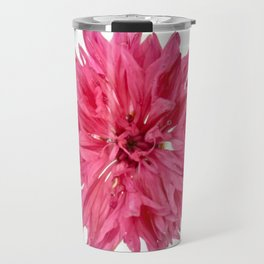 Pink Cornflower Travel Mug