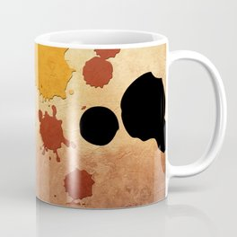 Abstract Indian Yellow Splash Coffee Mug