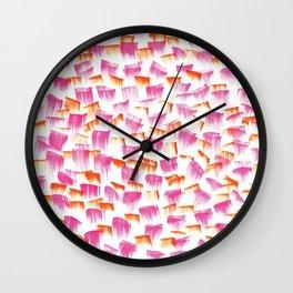 Bat her eyelids Wall Clock