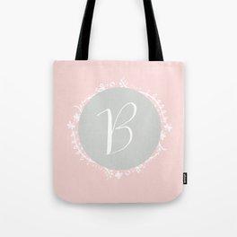Garland Initial B - Grey Tote Bag
