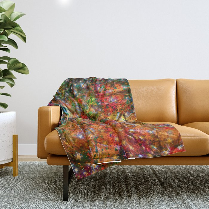 gift wrapping paper Throw Blanket