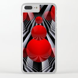 crazy lines and balls -22- Clear iPhone Case