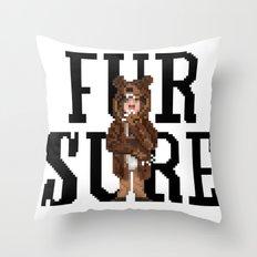 Fur Sure Throw Pillow