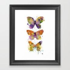 3 farfalle Framed Art Print