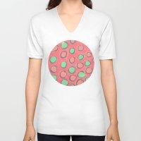 polka dot V-neck T-shirts featuring polka dot by Jenni Freidman