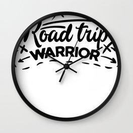 Travel Road Trip Warrior Wall Clock