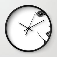 lou reed Wall Clocks featuring Lou by NikoSaul