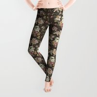 star Leggings featuring Botanic Wars by Josh Ln