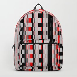 Rectangles red colors Backpack