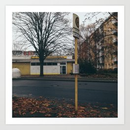 Berlin Bus Stop Art Print