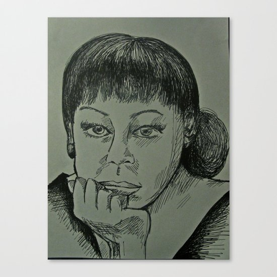 Adele Sketch Canvas Print